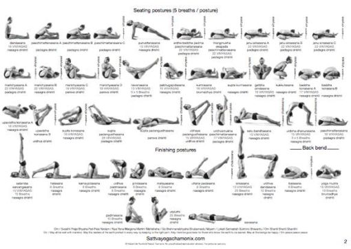 ashtanga card sheet practice yoga